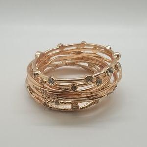 New 7 Rose Gold Bracelets size large